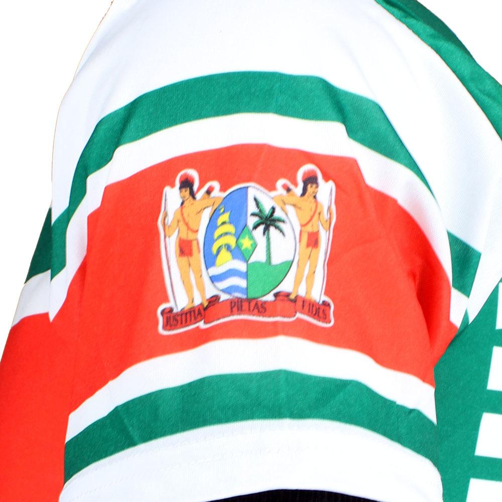 Voetbal Kleding / Football Clothing Surinam Football T-Shirt White / Yellow / Green / Red