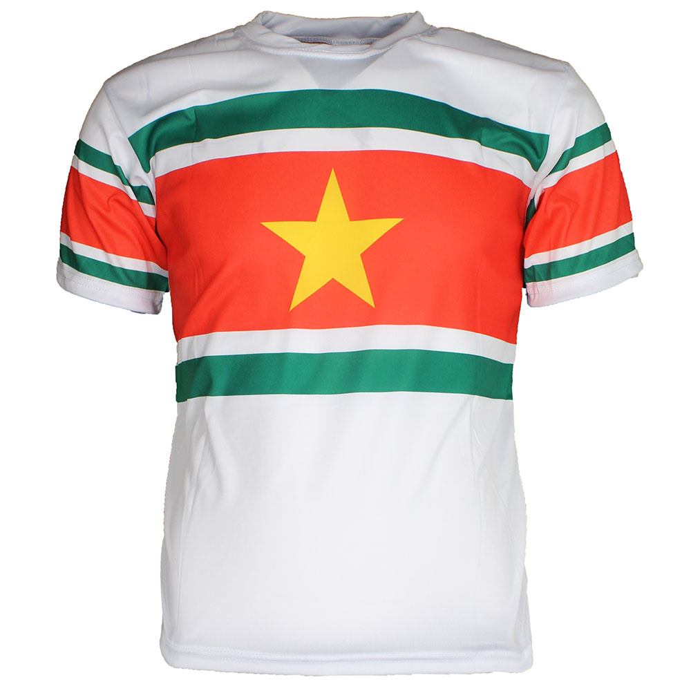 Voetbal Kleding / Football Clothing Surinam Football Soccer Sports Outfit Set White / Yellow / Green / Red