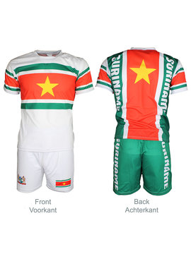 Suriname Suriname Voetbal T-shirt + Broek Set Tenue