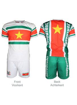 Voetbal Kleding / Football Clothing Suriname Voetbal T-shirt + Broek Set Tenue