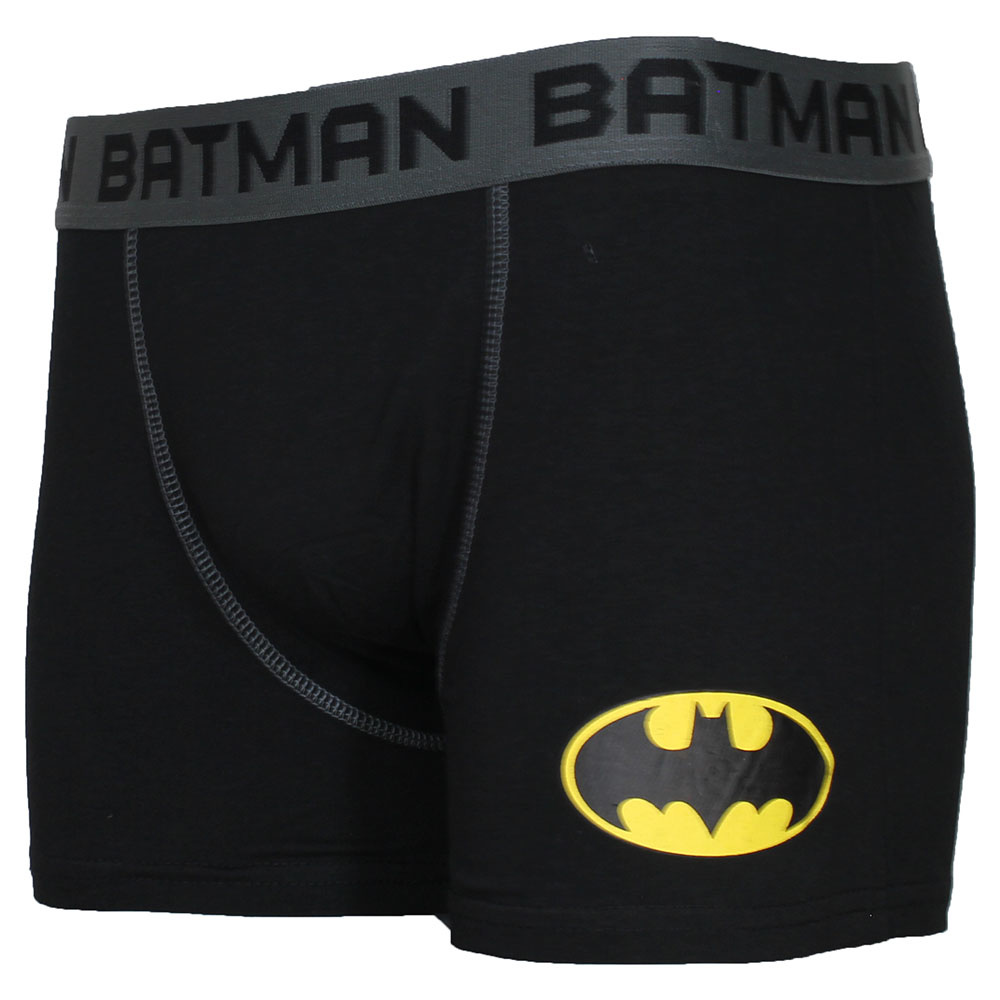 DC Comics: Superman, Batman, The Joker & The Flash DC Comics Batman Logo Boxershort Underwear Black/Grey/Yellow
