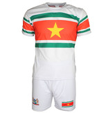 Suriname Surinam Football Soccer Sports Outfit Set White / Yellow / Green / Red