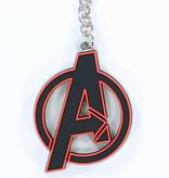 The Avengers Marvel Comics The Avengers Logo Rubber Keychain Black/Red