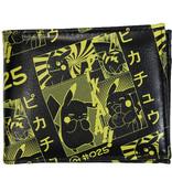 Pokémon Pokémon Pikachu Manga All over Print Bifold Portemonnee Geel / Zwart