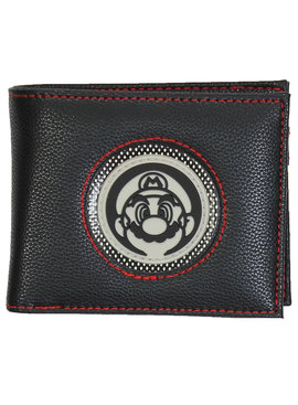 Super Mario Bros Super Mario Nintendo Face Patch Bifold Wallet