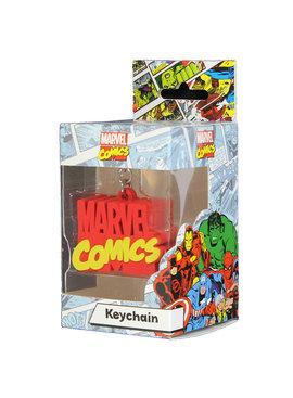 Marvel Comics: The Avengers, Captain America, Spider-Man, The Hulk, Thor, Black Panther, Deadpool, Ant-Man, Iron Man, The Punisher Marvel Comics Logo Rubberen 3D Sleutelhanger