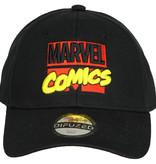 Marvel Comics: The Avengers, Captain America, Spider-Man, The Hulk, Thor, Black Panther, Deadpool, Ant-Man, Iron Man, The Punisher Marvel Comics Classic Logo Verstelbare Cap Pet Zwart / Rood