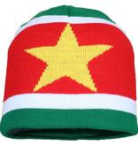 Suriname Suriname Vlag Muts Flag Beanie Geel / Groen / Rood
