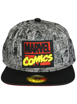 Marvel Comics Marvel Comics Comic Print Logo Snapback Cap Pet