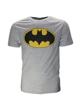 DC Comics: Superman, Batman, The Joker & The Flash Batman Classic Logo T-Shirt Grijs