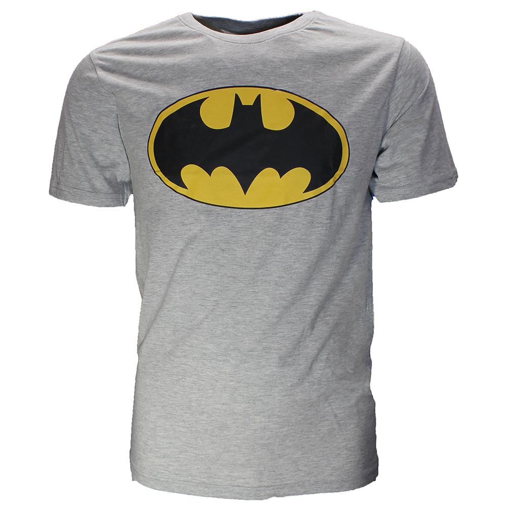 Batman Batman Classic Logo T-Shirt Grijs Zwart Geel