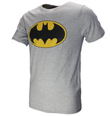 DC Comics: Superman, Batman & The Joker Batman Classic Logo T-Shirt Grijs Zwart Geel