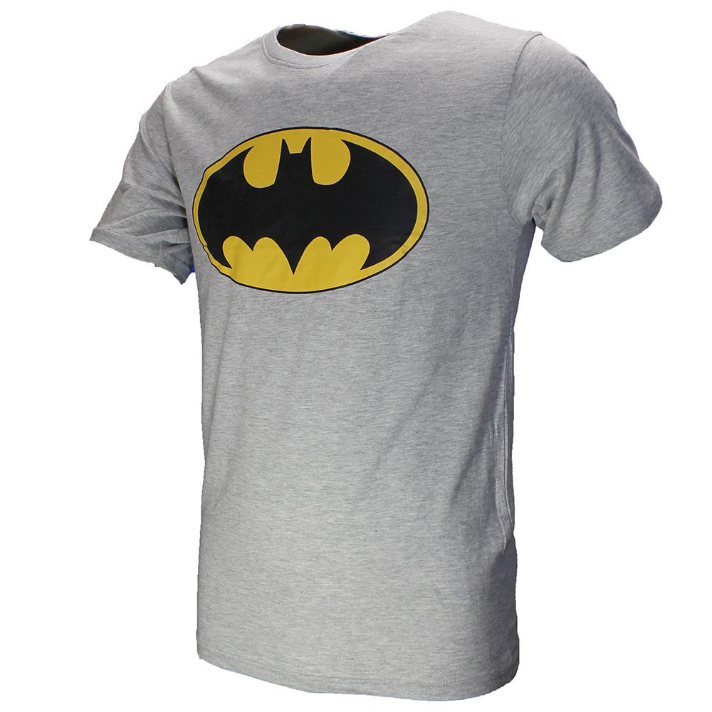 Batman Batman Classic Logo T-Shirt Grey Black Yellow