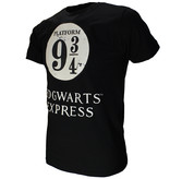 Harry Potter Harry Potter Platform 9¾  T-Shirt Zwart