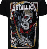 Band Merchandise Metallica Death Reaper T-Shirt Black/Red/White