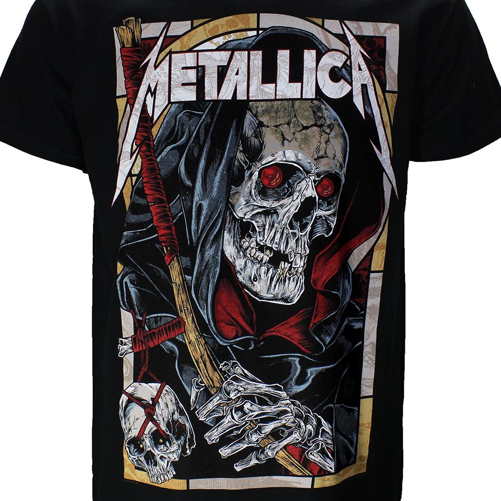 Band Merchandise Metallica Death Reaper T-Shirt Zwart/Rood/Wit