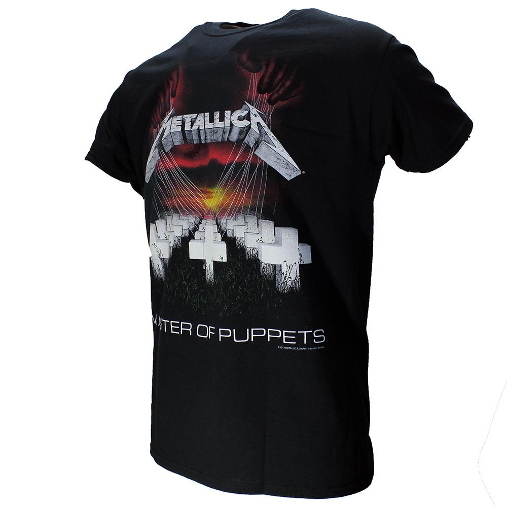 Band Merchandise Metallica Master Of Puppets T-Shirt Zwart / Rood