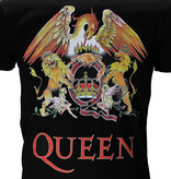 Metal & Rock Queen Classic Crest Logo Band T-Shirt Black / Red / Yellow