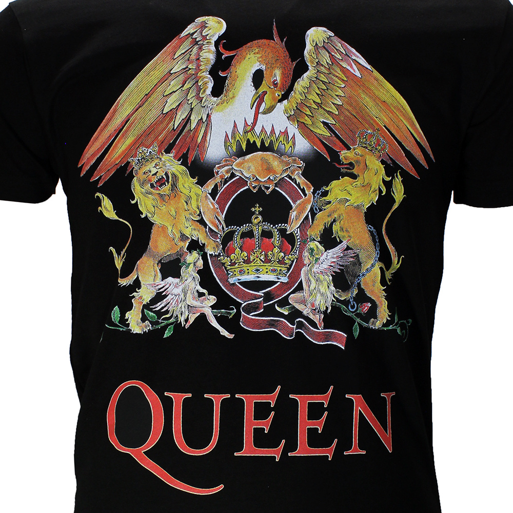 Queen Band Official Crest Logo T-Shirt New Red White Mens Xl