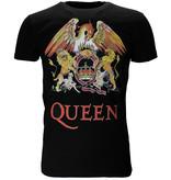 Queen Queen Classic Crest Logo Band T-Shirt Black / Red / Yellow