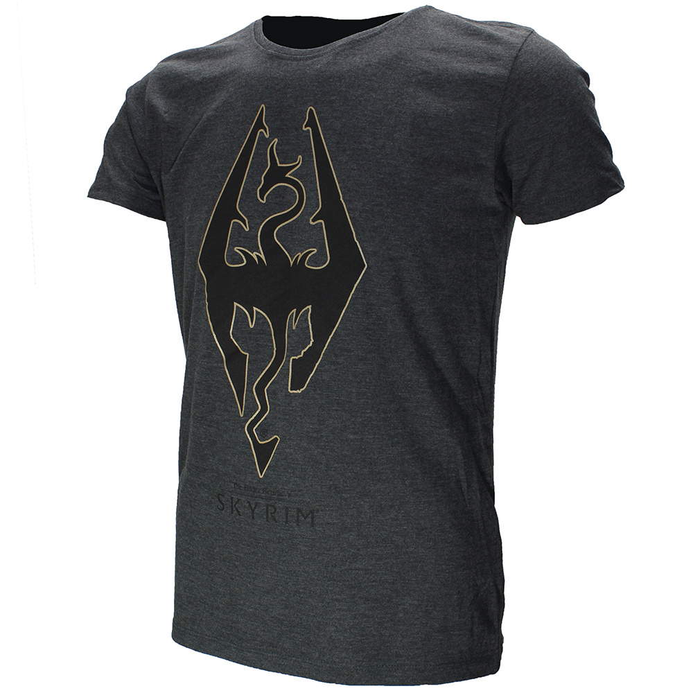 The Elder Scrolls V: Skyrim The Elder Scrolls: Skyrim Imperial Dragon T-Shirt Dark Grey