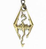 The Elder Scrolls V: Skyrim The Elder Scrolls IV: Skyrim Dragonborn Logo Draken Metalen Sleutelhanger Zilver