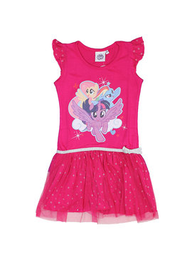 My Little Pony My Little Pony Kids Dress with Tulle Dark Pink
