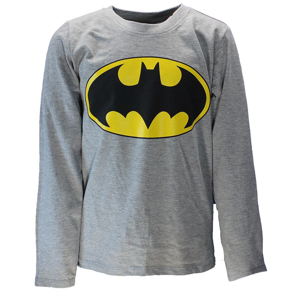 Batman DC Comics Batman Logo Kinder Longsleeve Shirt Grijs