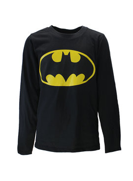Batman DC Comics Batman Logo Kinder Longsleeve Shirt Zwart