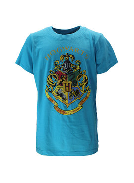 Harry Potter Harry Potter Hogwarts Embleem Kinder T-Shirt Licht Blauw