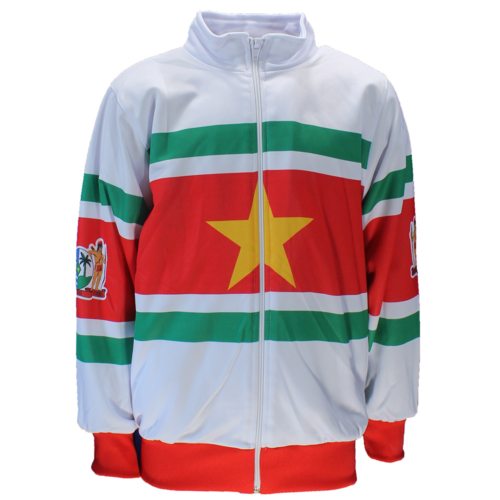 Suriname Surinam Flag Track Suit White/Red/Green/Yellow
