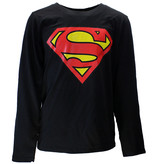 Superman DC Comics Superman Logo Kids Longsleeve Shirt Black