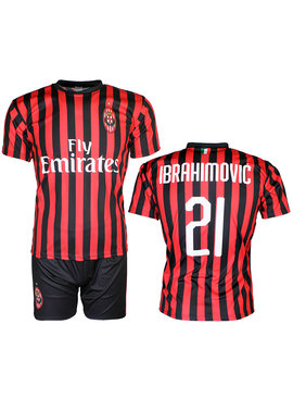 Voetbal Kleding / Football Clothing AC Milan Replica Zlatan Ibrahimovic 21 Football Kit Home Jersey T-shirt + Shorts Season 2019 / 2020