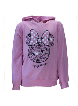 Disney Minnie Mouse Hoodie Sweater Light Pink