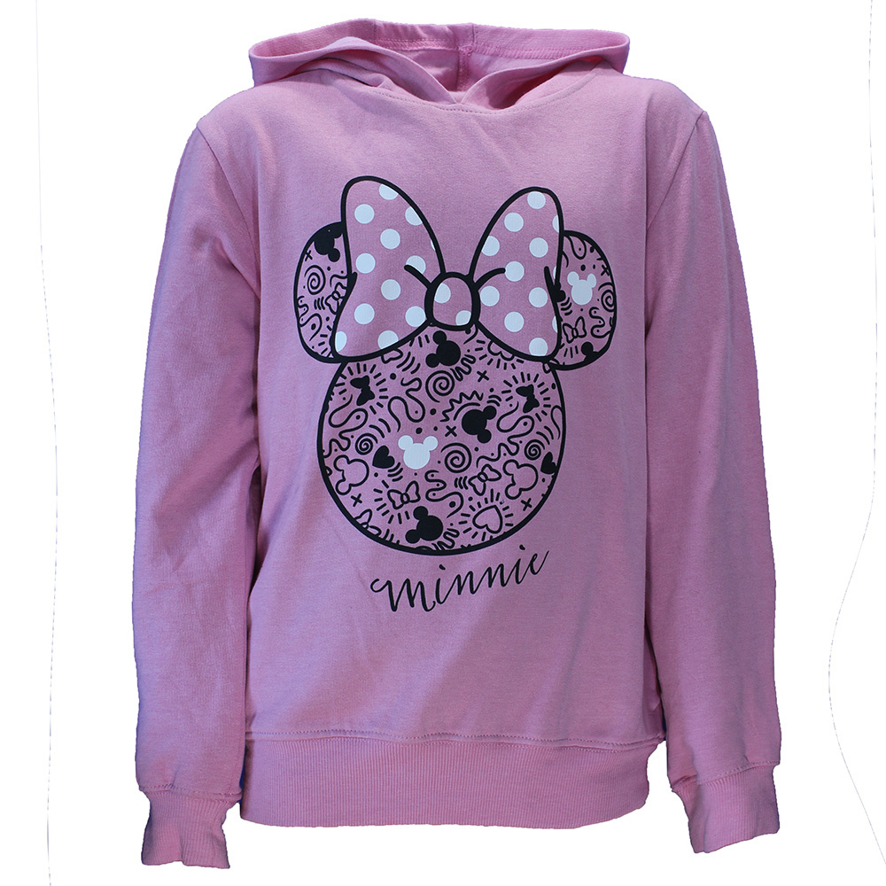 Minnie Mouse Minnie Mouse Hoodie Sweater Light Pink