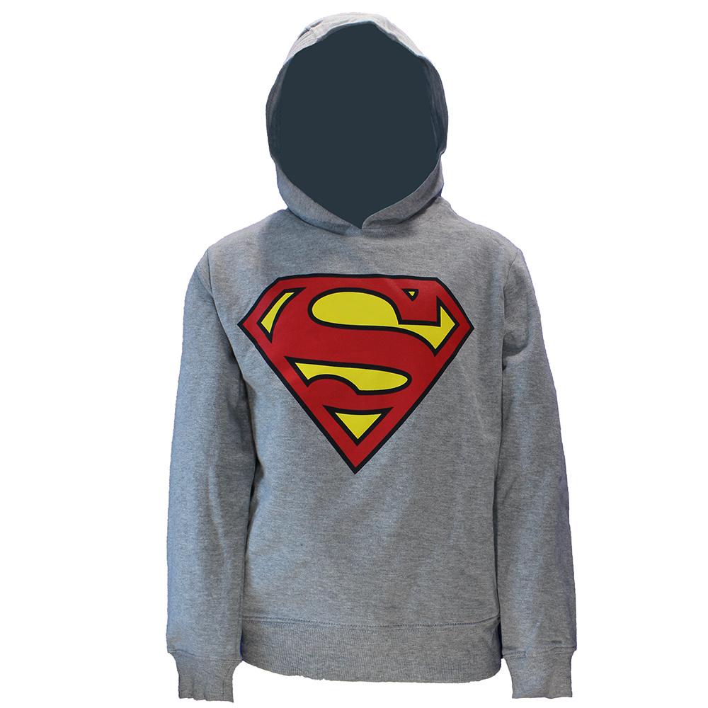 DC Comics: Superman, Batman, The Joker & The Flash DC Comics Superman Kids Hoodie Sweater Grijs