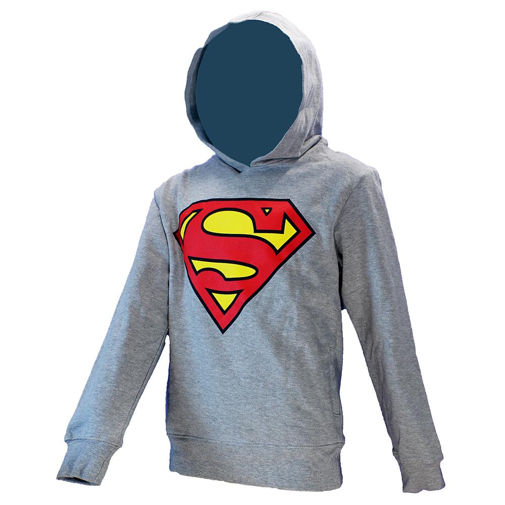 Superman DC Comics Superman Kids Hoodie Sweater Trui met Capuchon Grijs