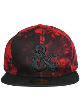 Dungeons & Dragons Dungeons & Dragons Ampersand Logo Red Marble Snapback Cap