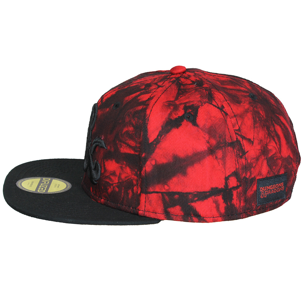 Dungeons and Dragons Dungeons & Dragons Ampersand Logo Red Marble Snapback Cap Pet Black / Grey / Red