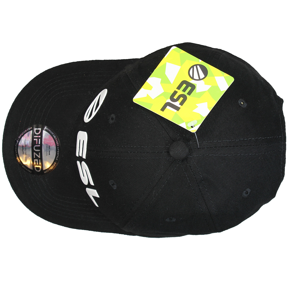 ESL Electronic Sports League ESL E-Sports Logo Adjustable Baseball Snapback Cap Black/White/Yellow