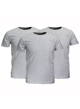 Basics Fruit Of The Loom Plain Basic Cotton T-Shirts 3 Pieces Package mottled grey