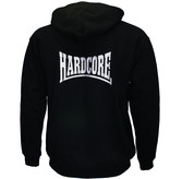 Hardcore Hardcore Logo Hoodie Vest met rits geborduurd Zwart