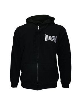 Hardcore Hardcore Logo Hoodie Vest met Rits en Capuchon geborduurd