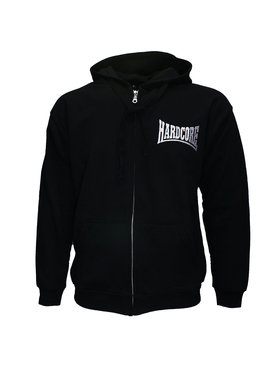 Hardcore Hardcore Logo Hoodie Vest with Zipper Embroided