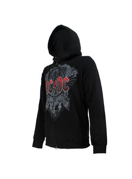 Band Merchandise AC/DC Black Ice Logo Hoodie with Zipper