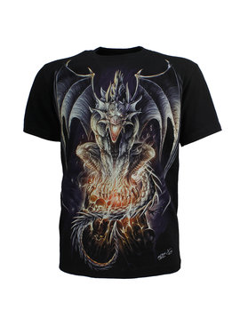 Rock Eagle / Biker T-Shirts Biker 3D Glow in the Dark Draak T-Shirt