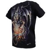 Rock Eagle / Biker T-Shirts Biker 3D Glow in the Dark Draak T-Shirt Zwart
