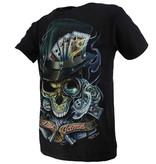 Rock Eagle / Biker T-Shirts Biker Glow in the Dark Last Game T-Shirt Black