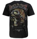 Rock Eagle / Biker T-Shirts Biker Glow in the Dark T-Shirt Born To Ride Zwart