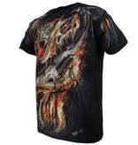 Rock Eagle / Biker T-Shirts Biker Fire Dragon T-Shirt Black